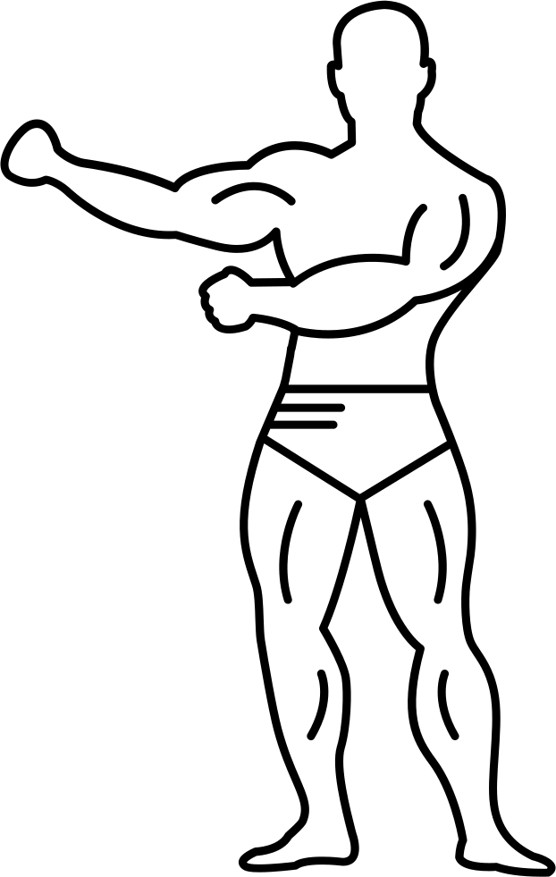 Gymnast With Strong Muscles In Full Body View Svg Png Icon Free