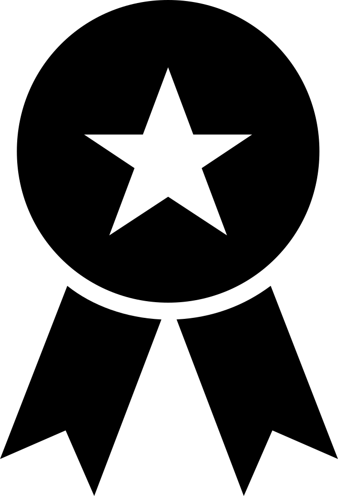 Award Sportive Recognition Symbol Of A Badge With A Star And Ribbon