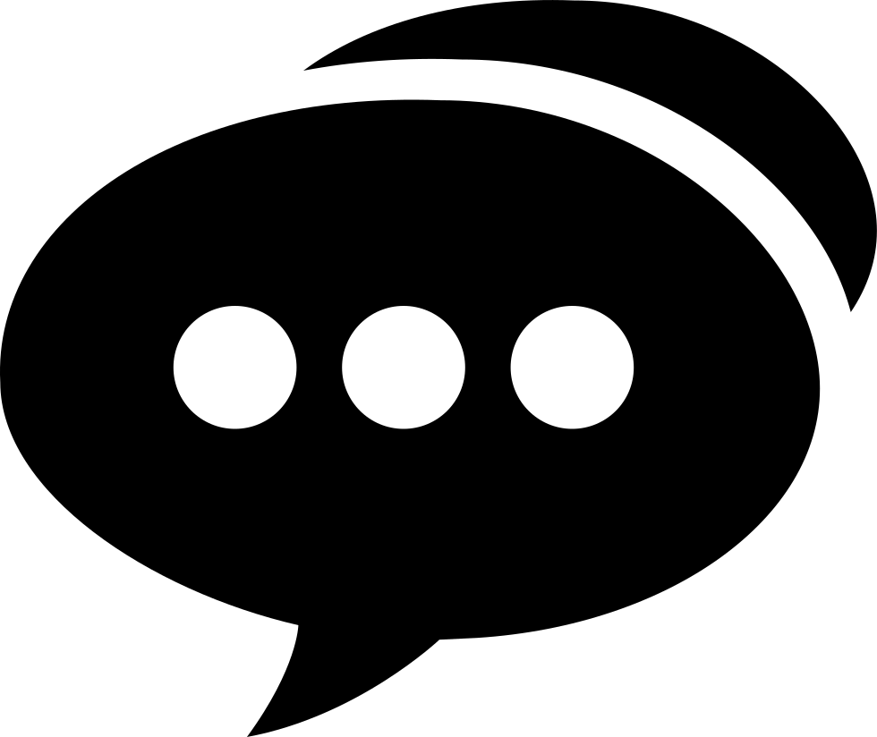 Speech Bubble With Three Dots Svg Png Icon Free Download ...