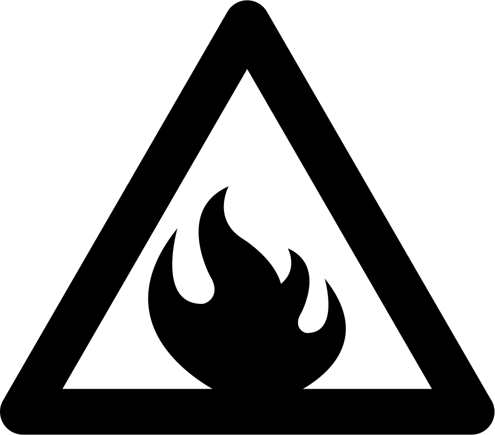 Warning flammable sign svg png icon free download 25513 warning flammable sign comments buycottarizona
