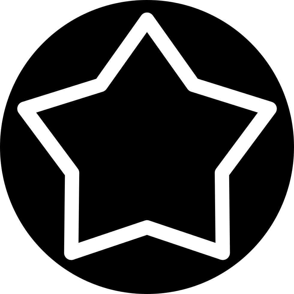 White Star Inside A Circle Svg Png Icon Free Download 25542
