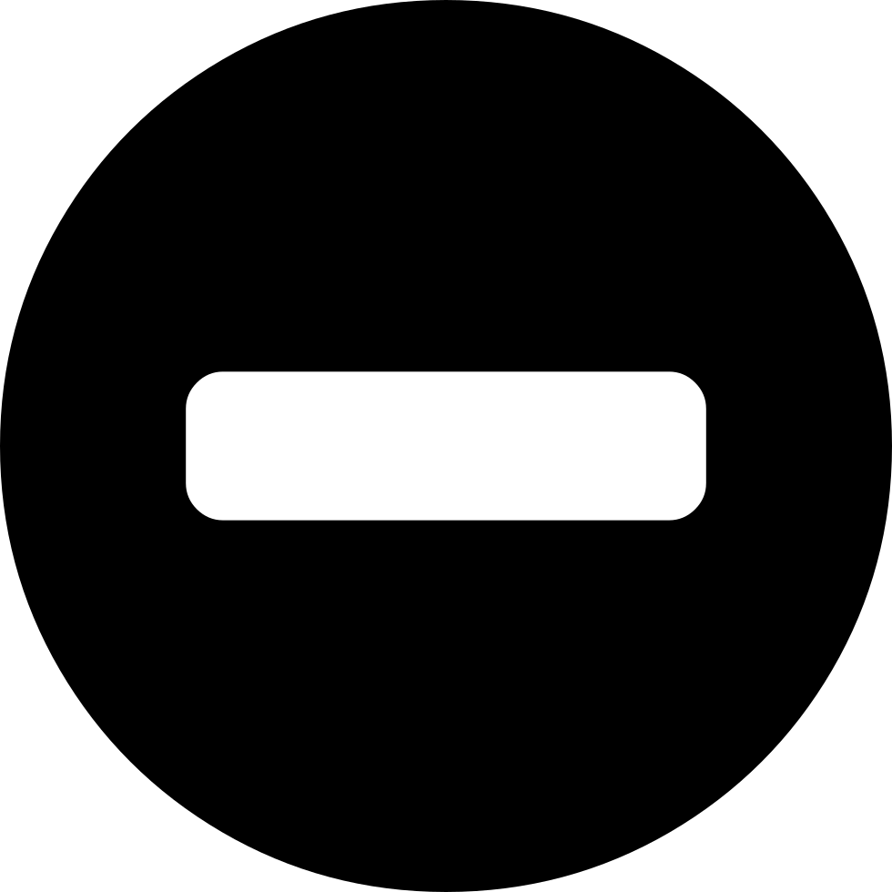 minus sign inside a black circle svg png icon free