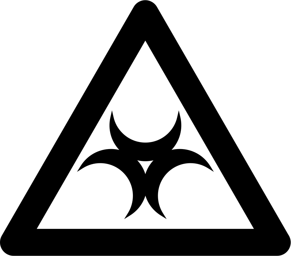 Biohazard Sign Inside A Triangle Outline Svg Png Icon Free