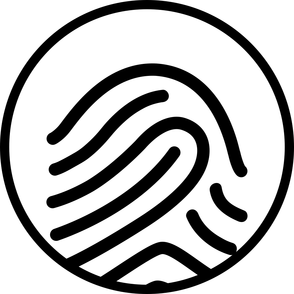 Fingerprint Mark In A Circle Shape Svg Png Icon Free Download