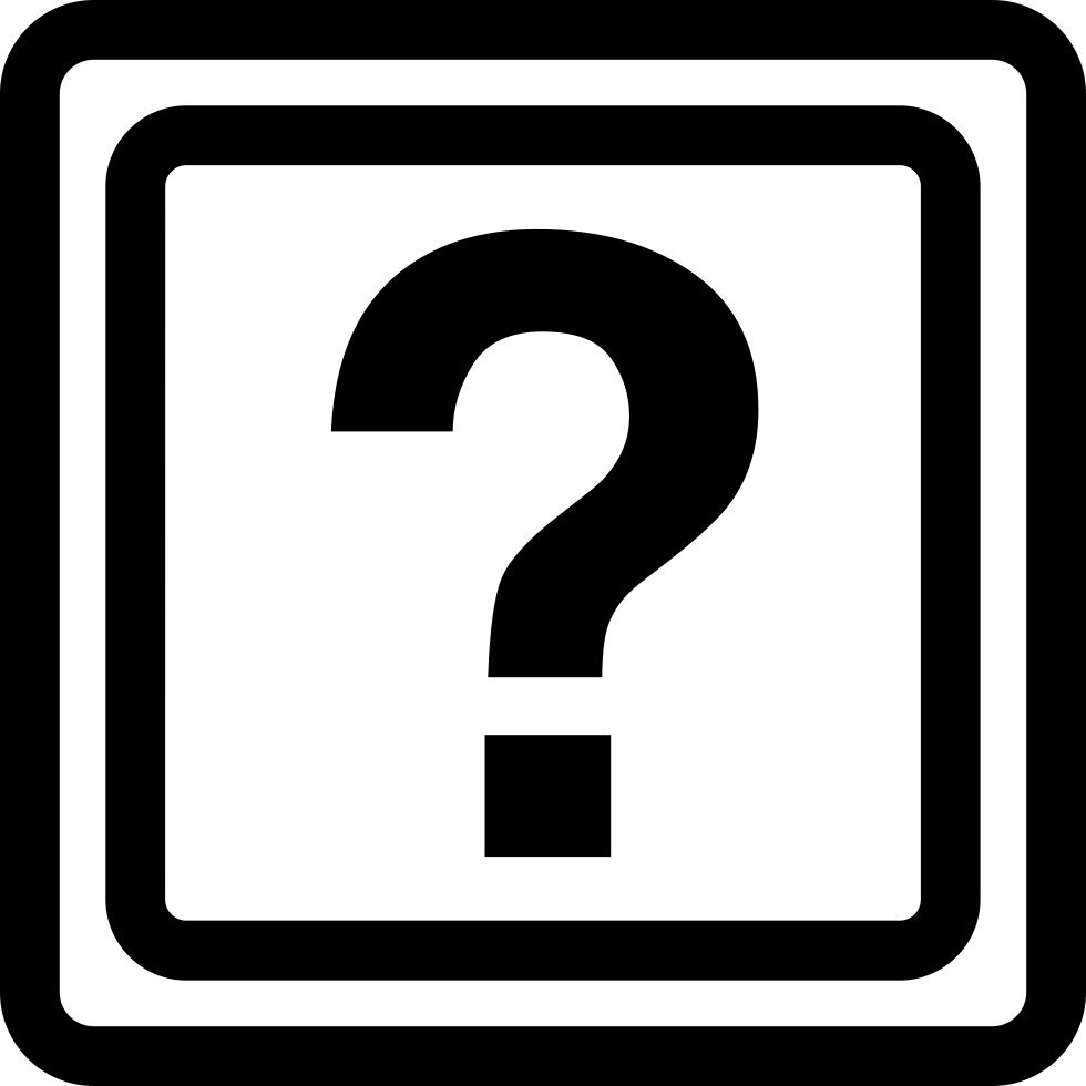 Question Mark Inside A Box Outline Svg Png Icon Free