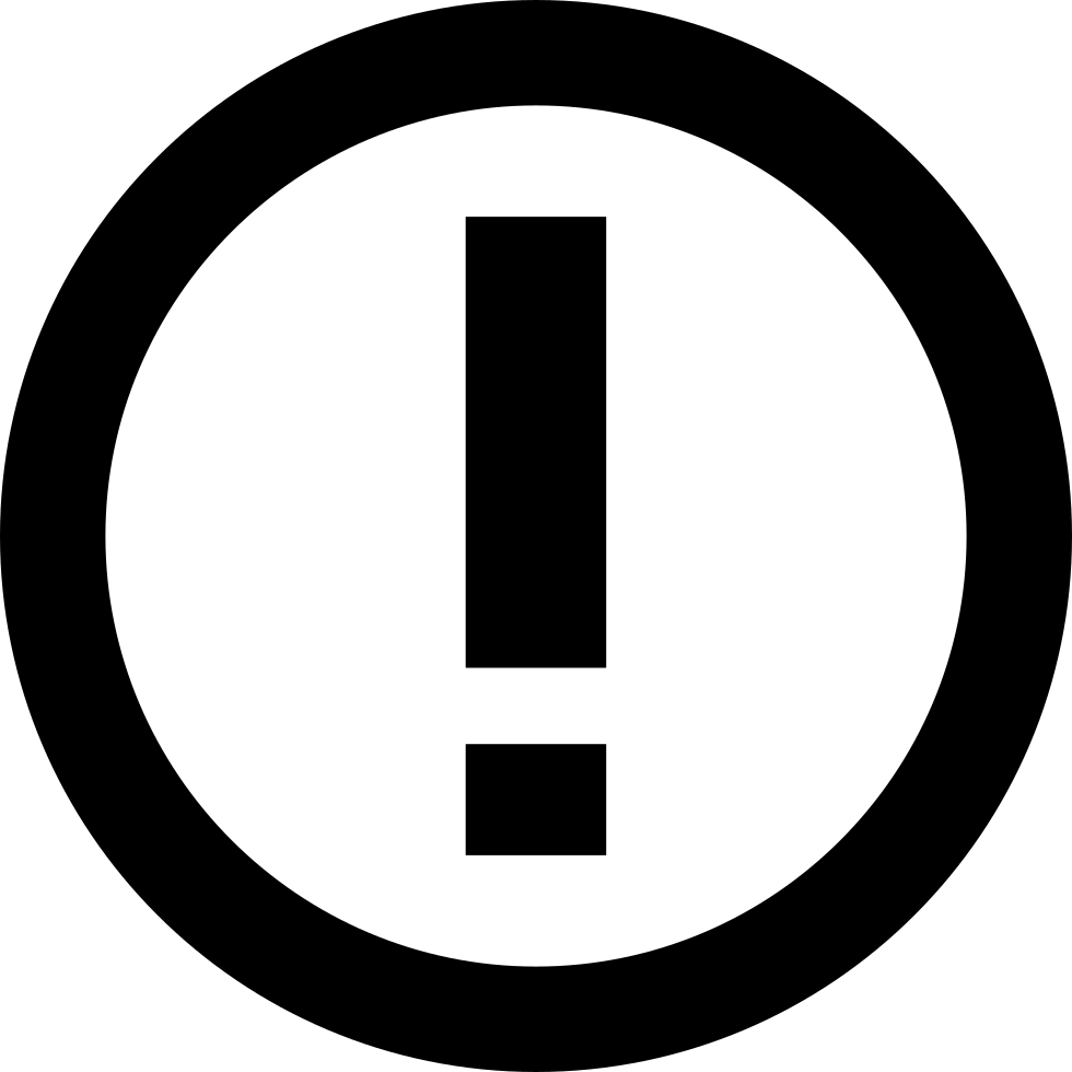 Exclamation Point Inside Circle Outline Svg Png Icon Free