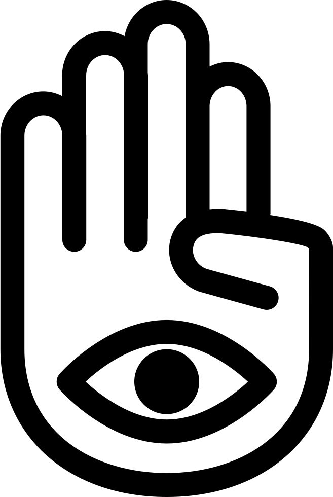 Hand Palm With One Eye In Mudra Posture Svg Png Icon Free Download