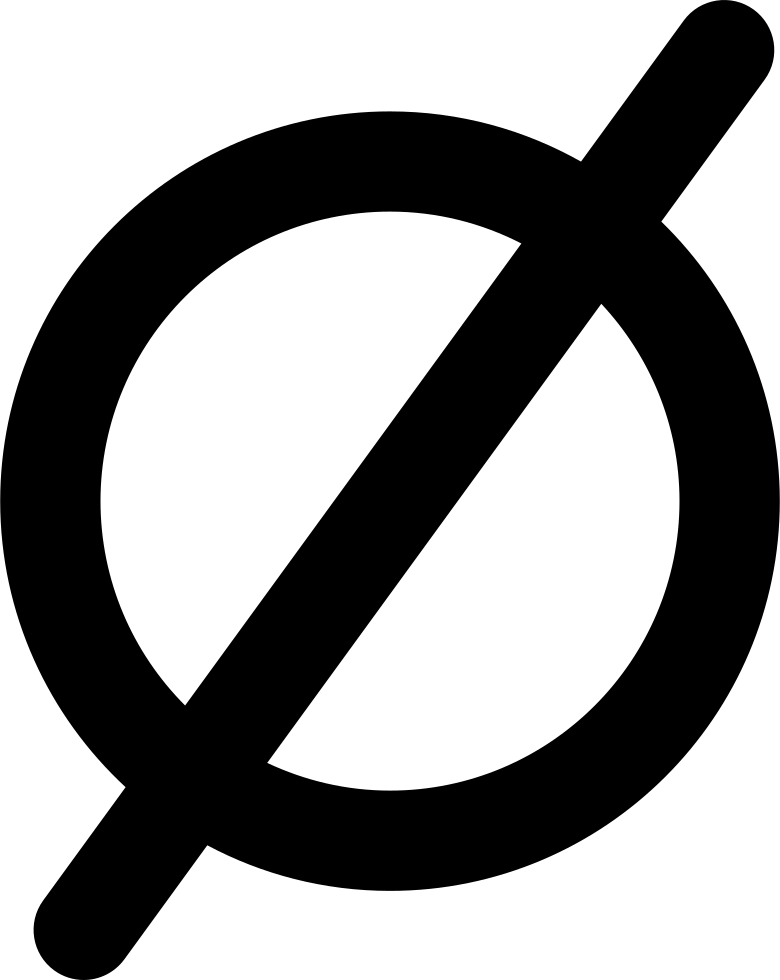 Empty Set Mathematical Symbol Svg Png Icon Free Download 27869