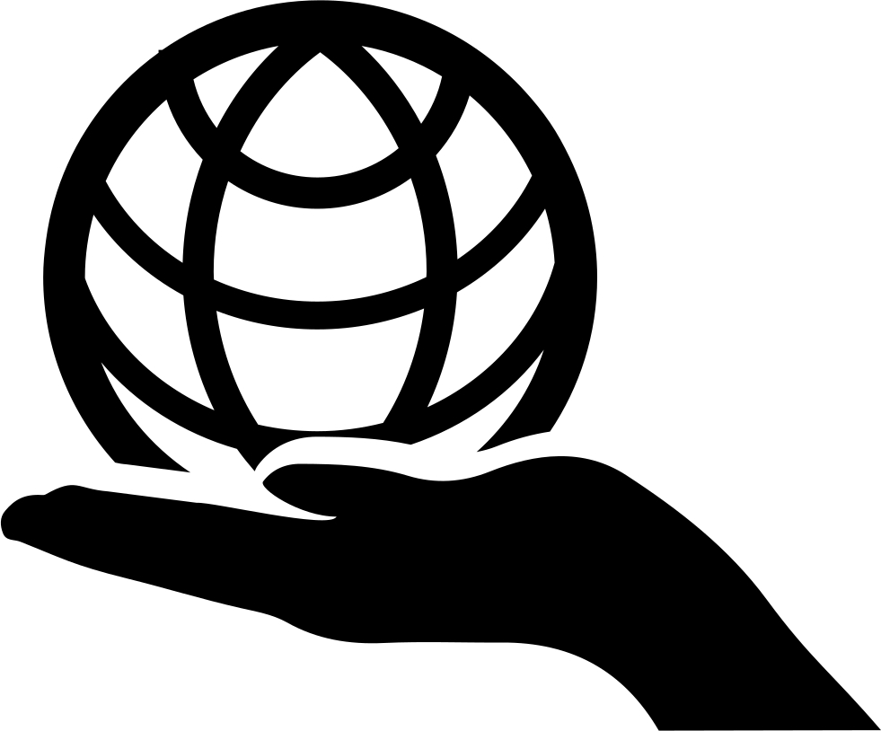 Globe On Hand Svg Png Icon Free Download (#28936