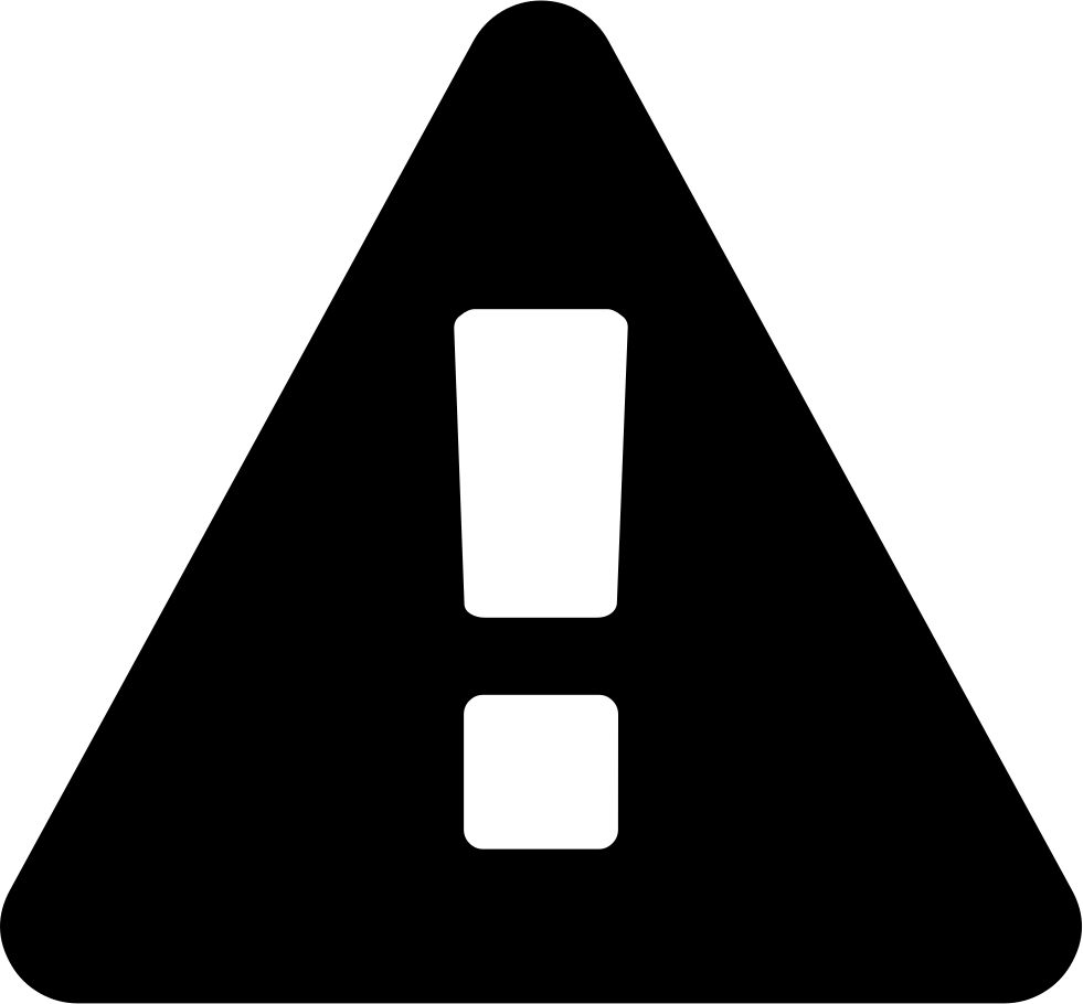 Warning Sign On A Triangular Background Svg Png Icon Free Download