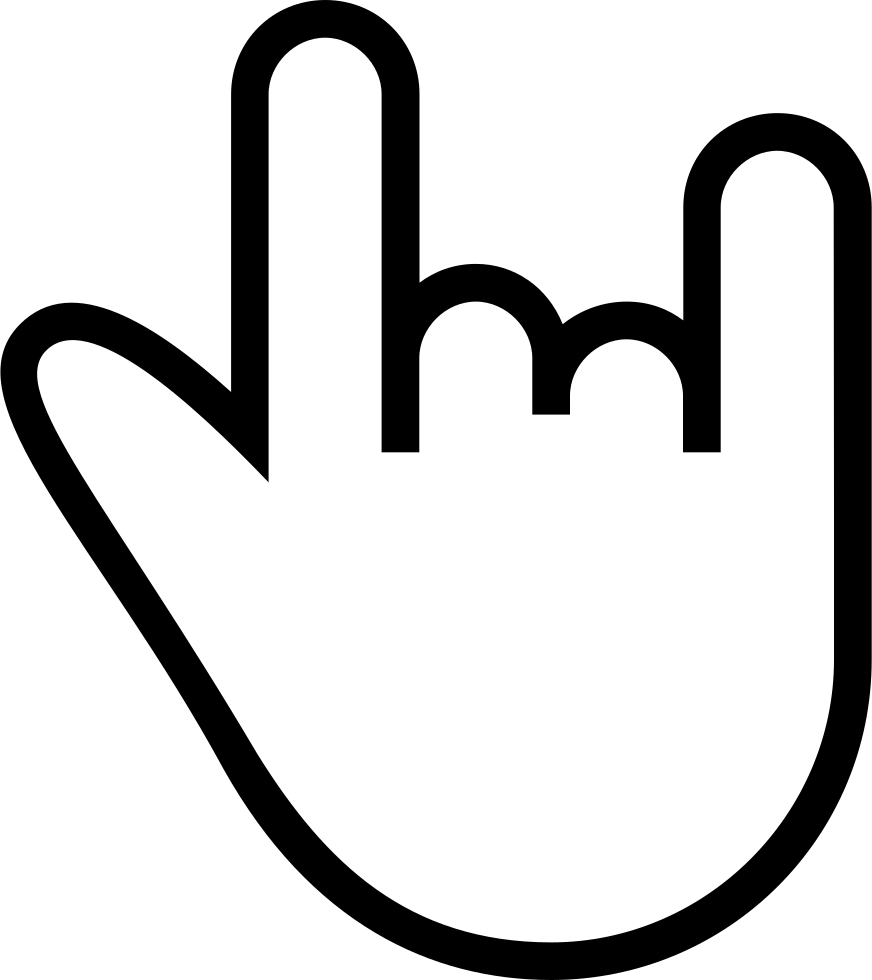 Rock n roll gesture outlined hand symbol svg png icon free rock n roll gesture outlined hand symbol comments buycottarizona