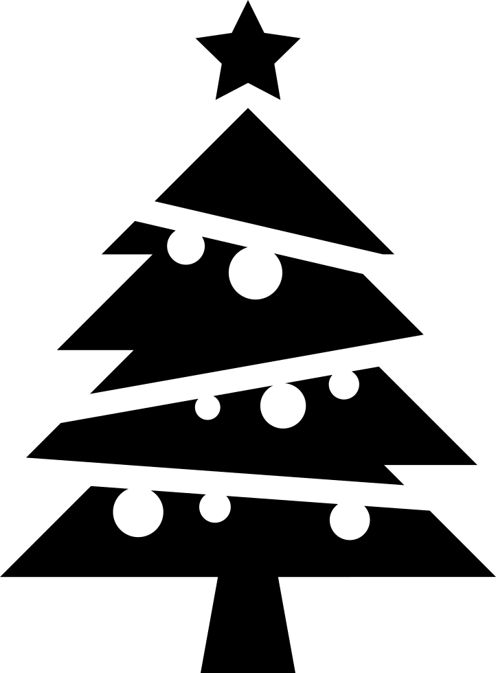 Christmas Tree Icon.Christmas Tree With Balls And A Star On Top Svg Png Icon