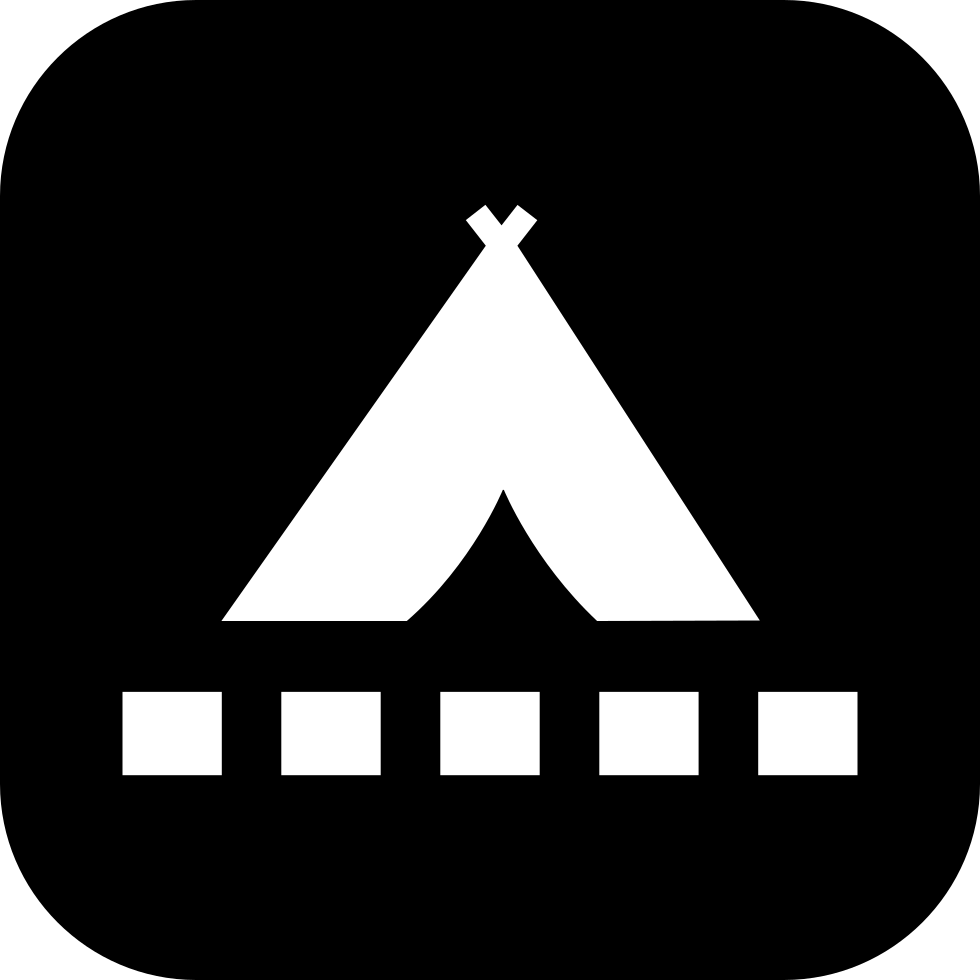 Tent Symbol With Small Square Shapes Comments  sc 1 st  oNline Web Fonts & Tent Symbol With Small Square Shapes Svg Png Icon Free Download ...