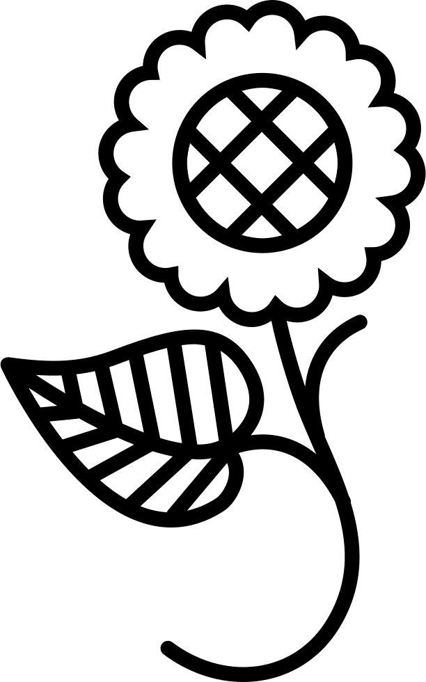 Floral Design Of One Flower On A Branch With One Leaf Svg Png Icon