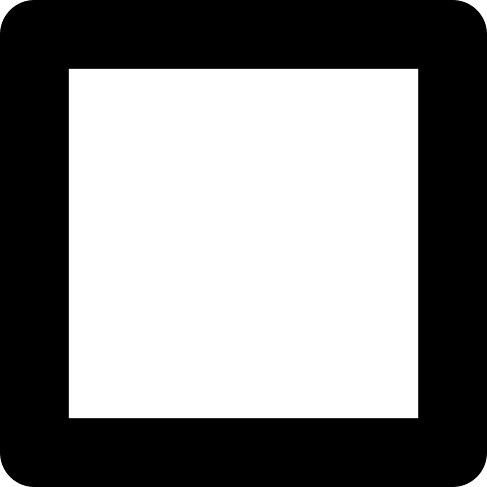 Square Outline Of Slightly Rounded Corners Svg Png Icon ...