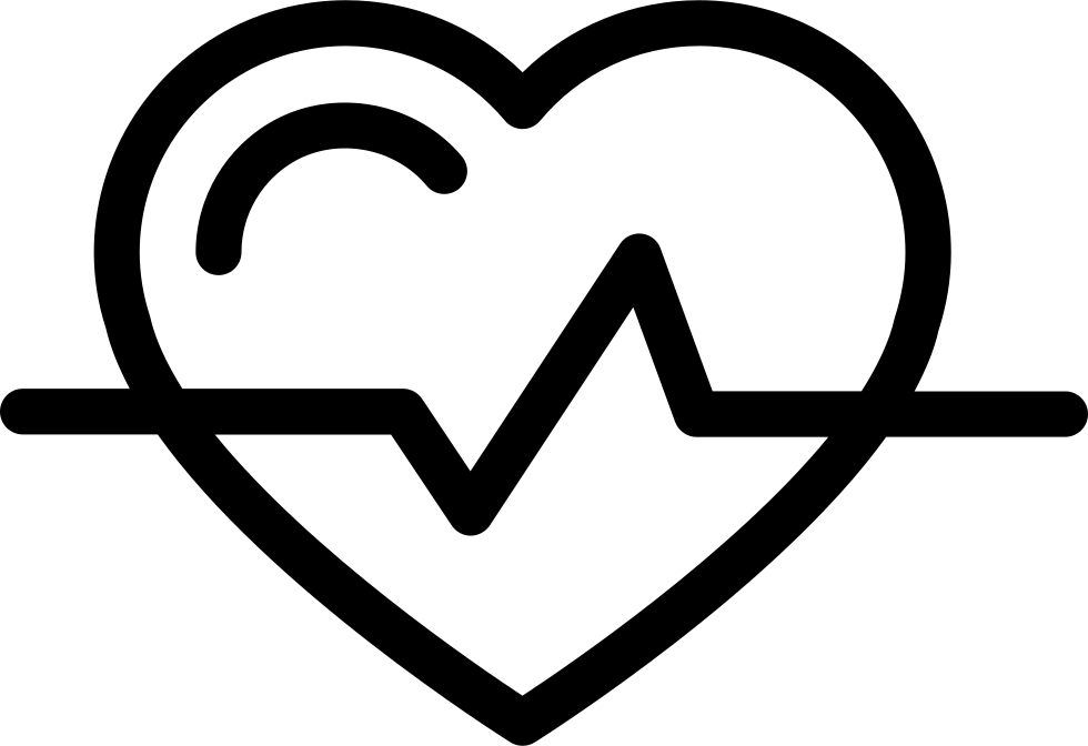 Heart Shape Outline With Lifeline Variant Svg Png Icon Free Download