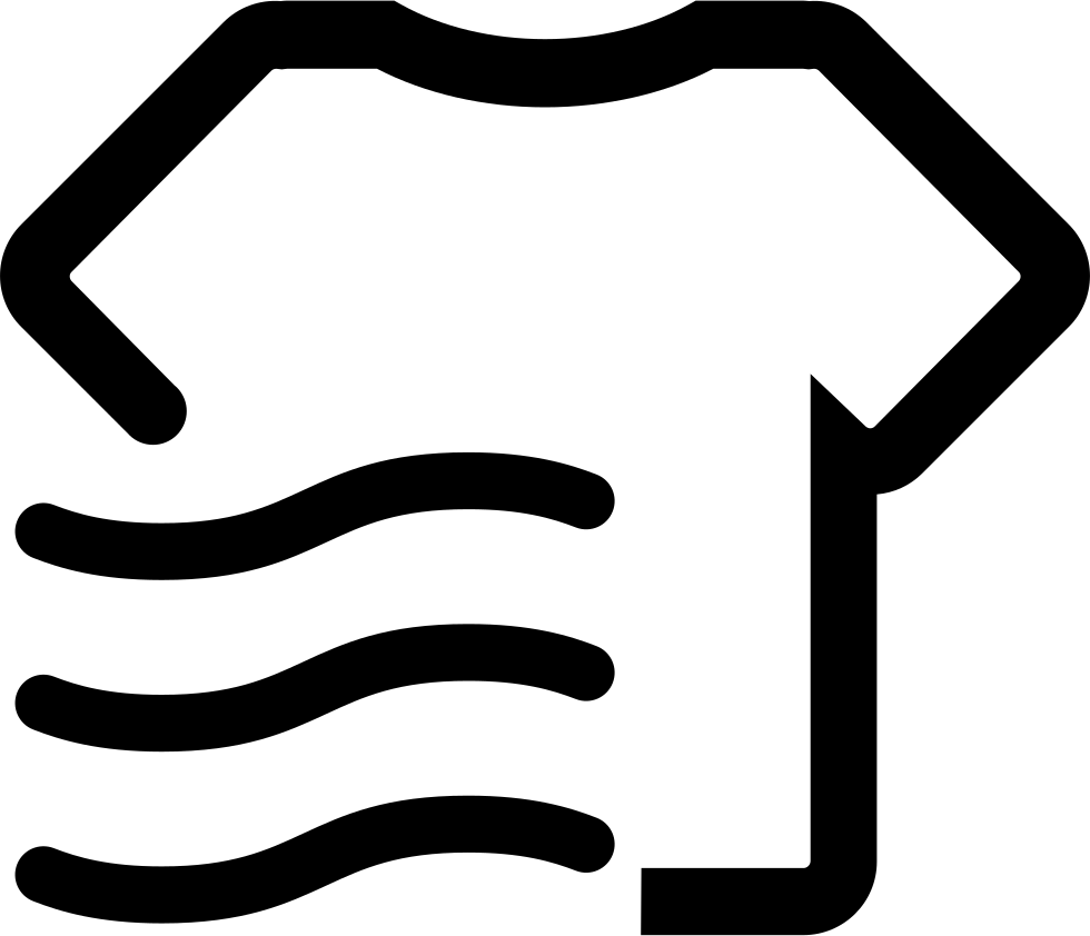 the function of dry clothing wrinkle svg png icon free