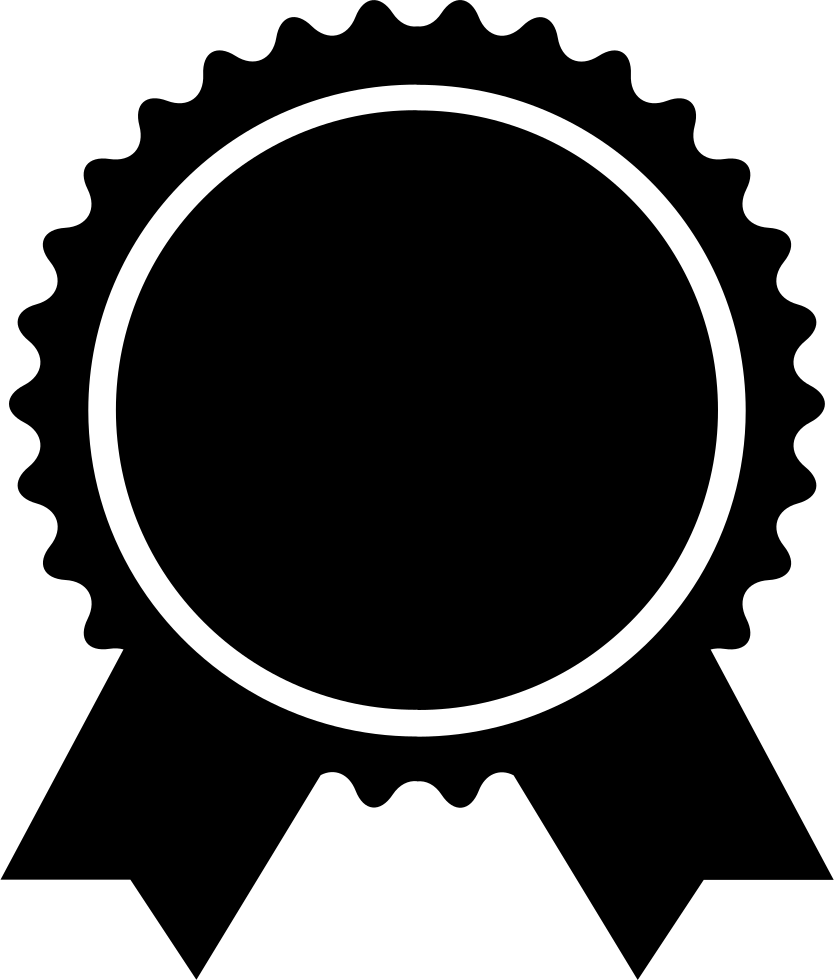 Award Badge Of Circular Shape With Ribbon Tails Svg Png ...