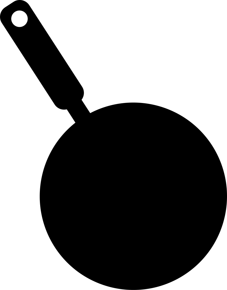 Frying Pan Silhouette From Top View Svg Png Icon Free