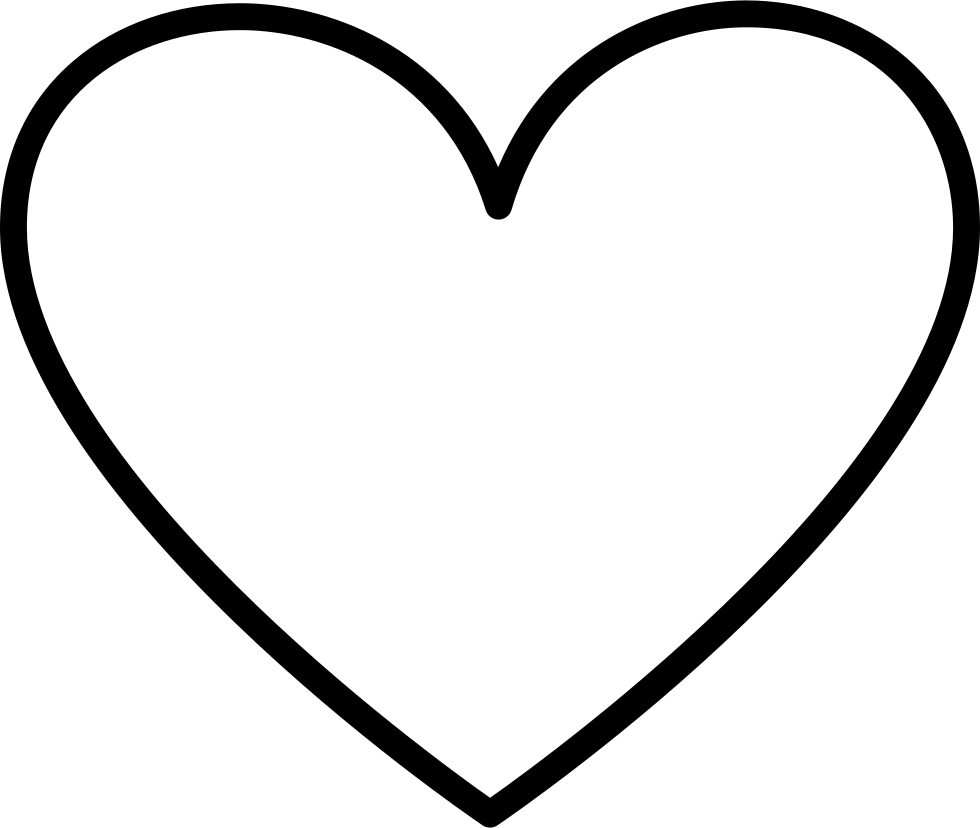 Heart Outlined Shape Svg Png Icon Free Download (#35373 ...