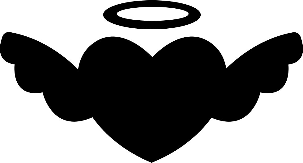 Winged Heart With An Halo Svg Png Icon Free Download (#35394