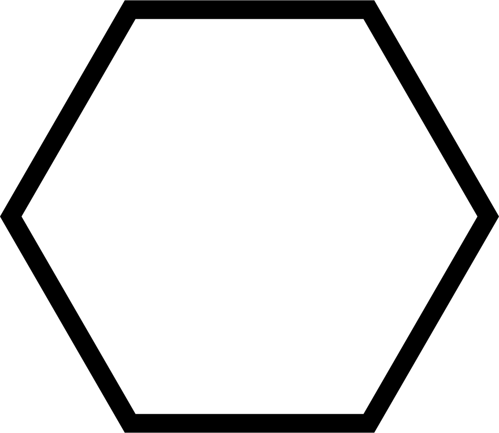 hexagon geometrical shape outline svg png icon free