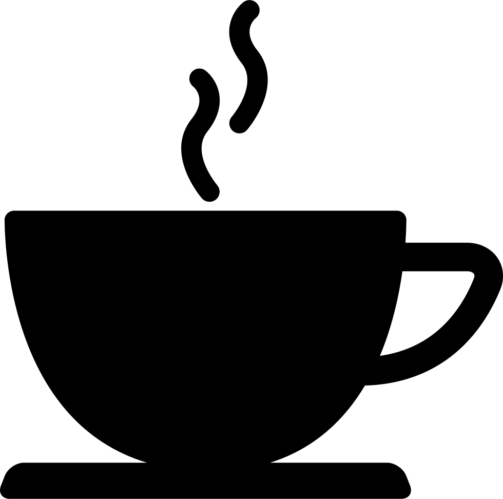 Clip Art Coffee Table: Coffee Cup Of Hot Drink Black Silhouette Svg Png Icon Free