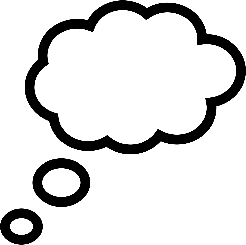 Dreaming Cloud Outline Shape Svg Png Icon Free Download