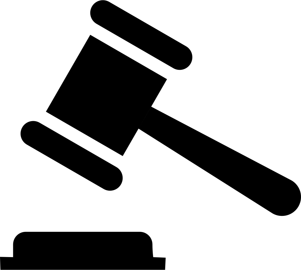 auction judge rule hammer court svg png icon free download