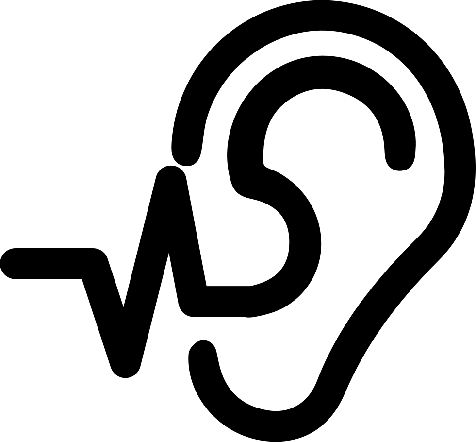 Operating Ear Low Frequency Svg Png Icon Free Download