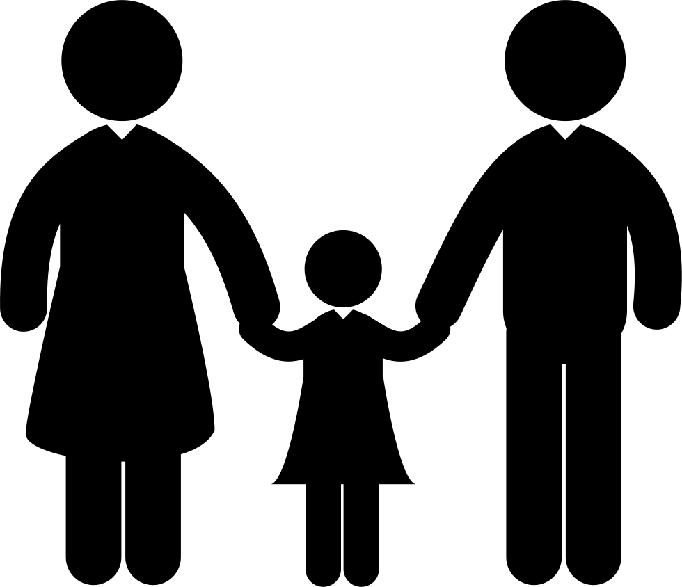 Adults Couple With A Child Svg Png Icon Free Download