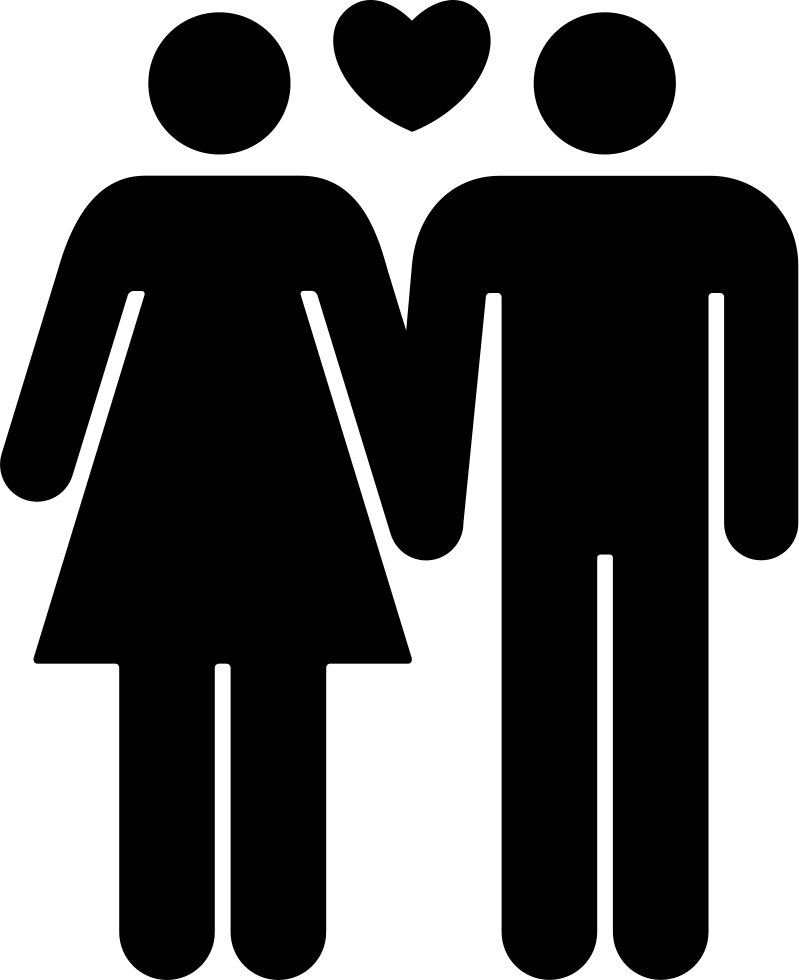 Couple Of Man And Woman In Love Svg Png Icon Free Download