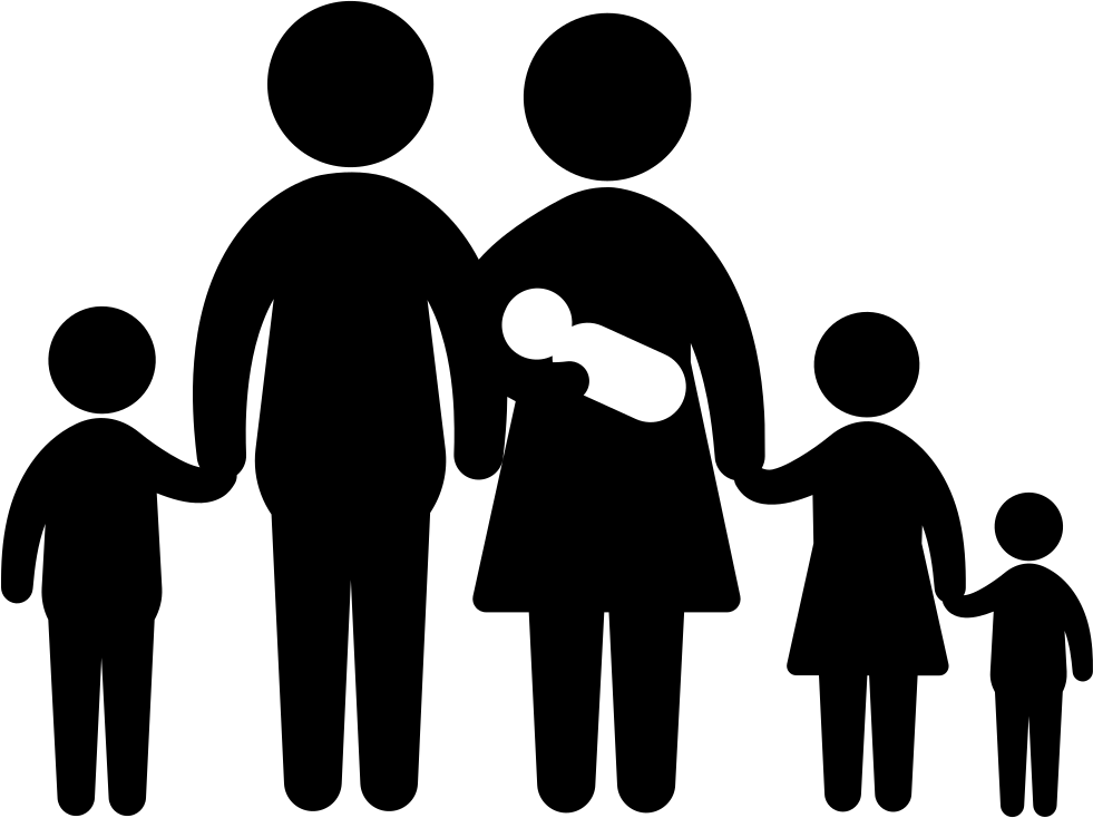 Family Of Six Including A Baby Svg Png Icon Free Download