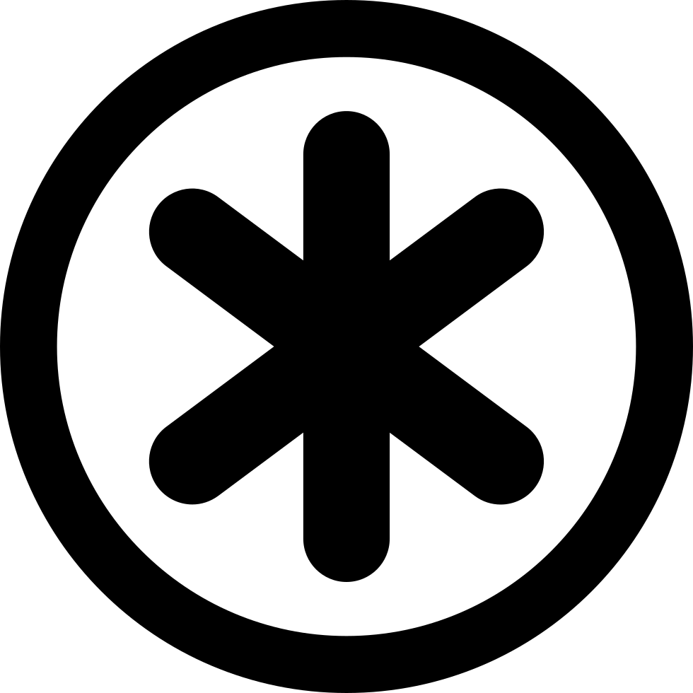 Asterisk Star Symbol In Circular Button Svg Png Icon Free Download