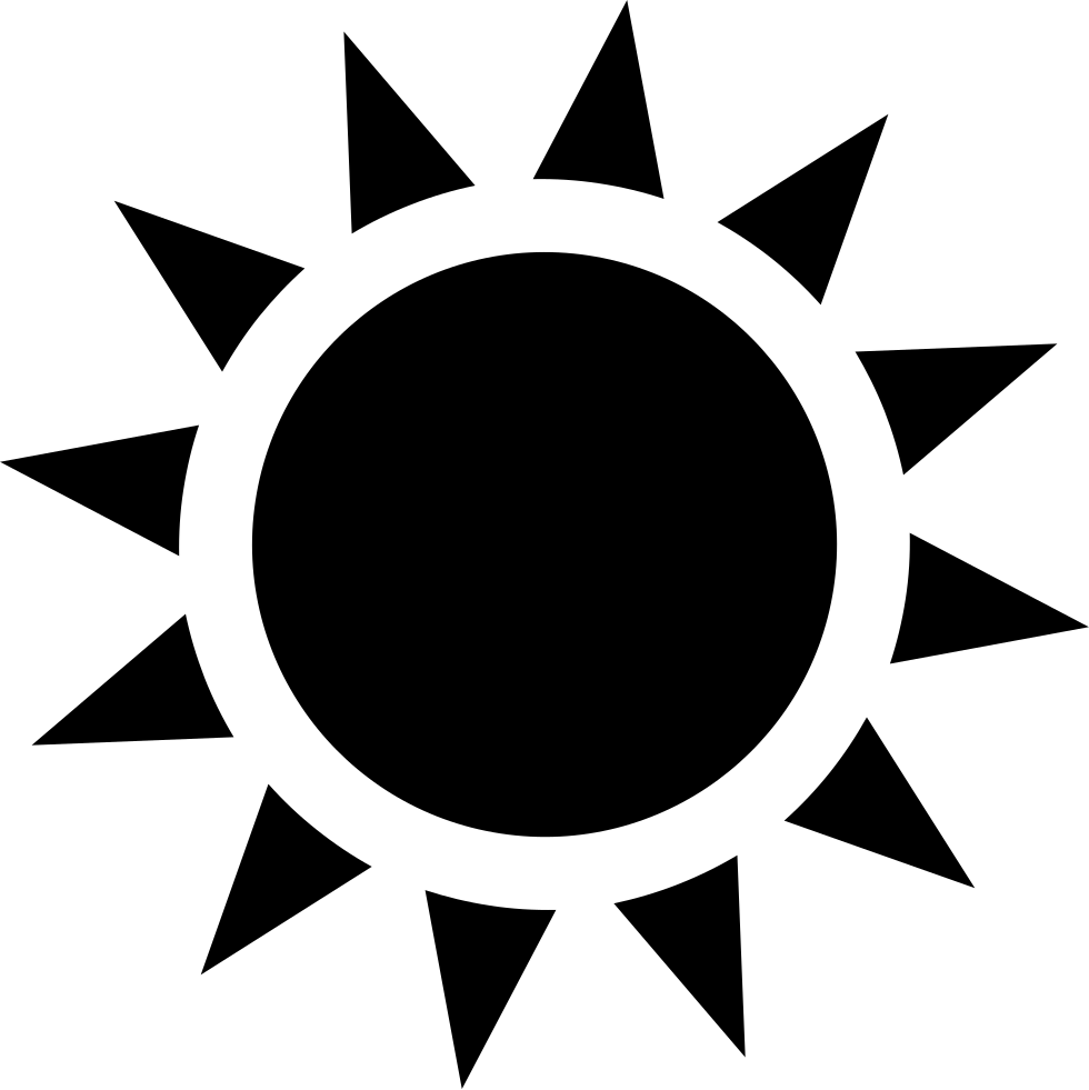 Sun With Sunrays Svg Png Icon Free Download (#40038 ...