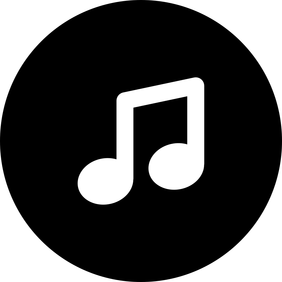 music circle note icon musica icons icono musical notes symbol svg logos piano button downing labarca kieran aj buttons file