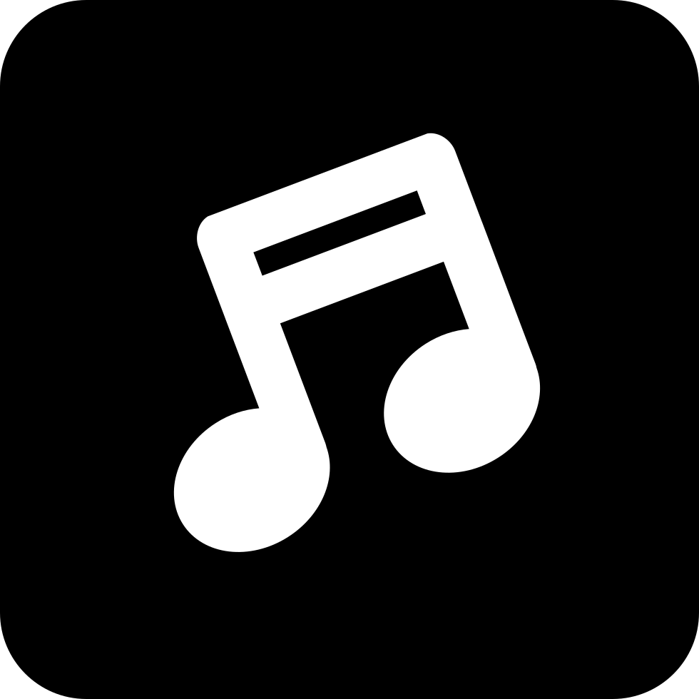 Music Note Symbol In A Rounded Square Svg Png Icon Free Download