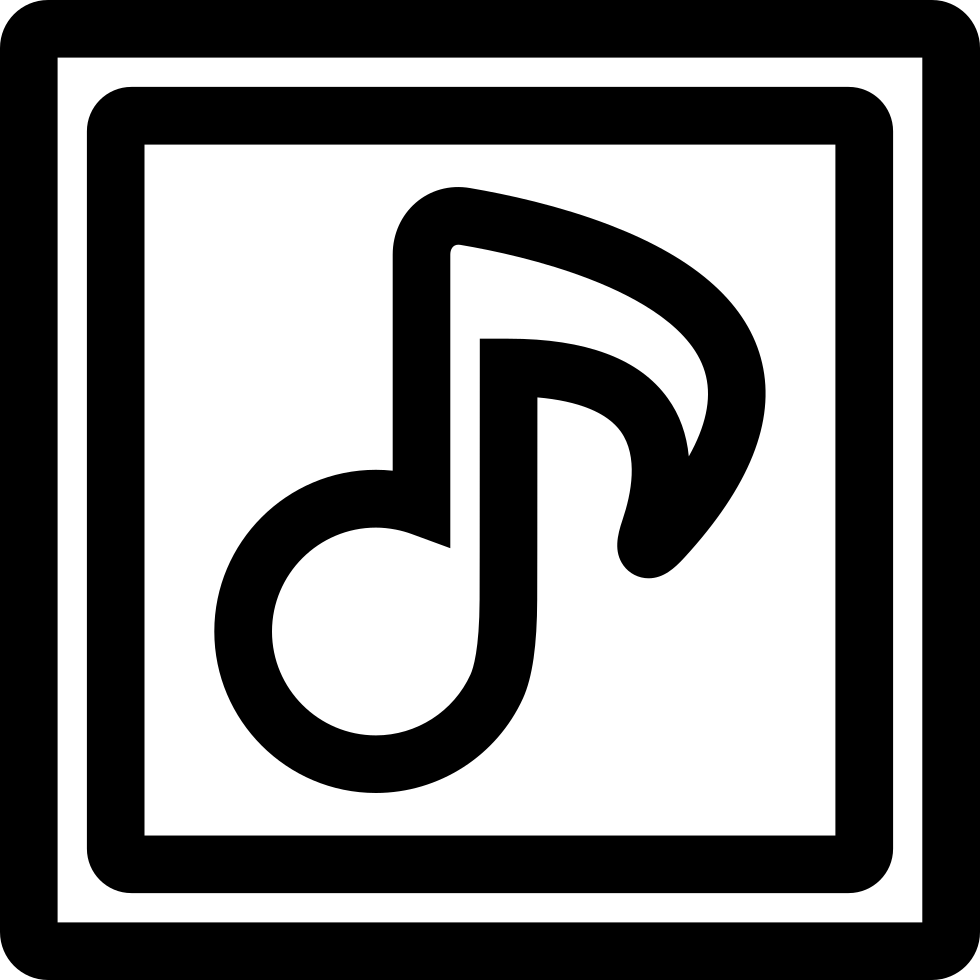 Musical note outline symbol inside two squares svg png icon free musical note outline symbol inside two squares comments buycottarizona