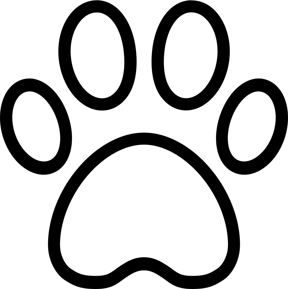 Ios Paw Outline Svg Png Icon Free Download (#411676