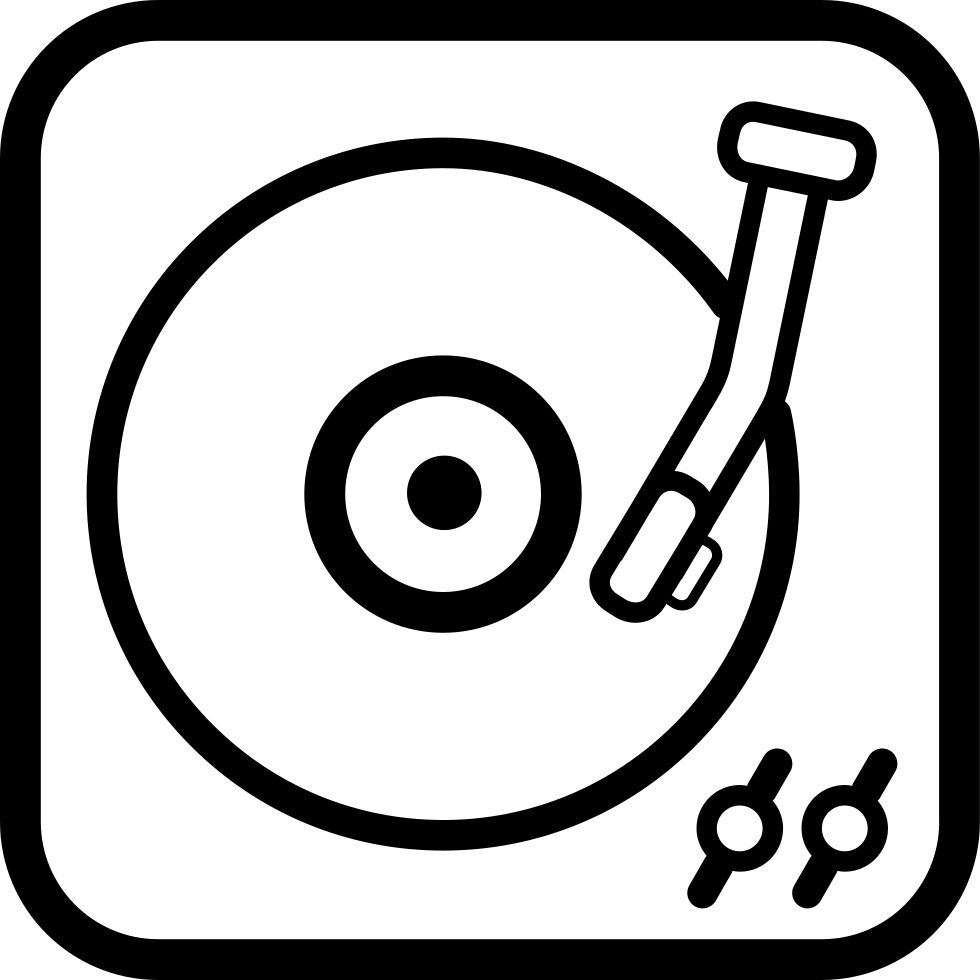 Long Record Player Vintage Tool Outline Svg Png Icon Free
