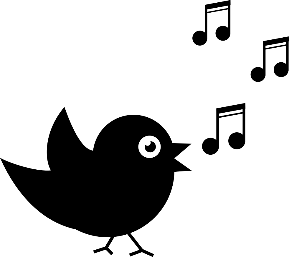 bird singing with musical notes svg png icon free download 41620