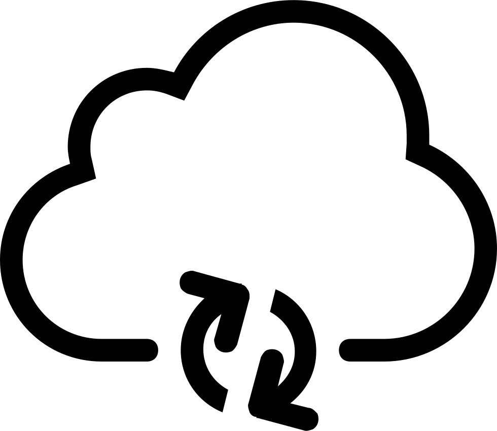 Cloud Update Synchronization Svg Icon Free Download