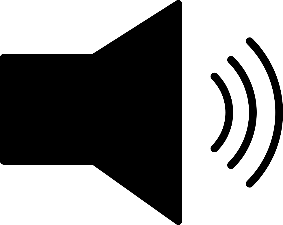 Speaker With Sound Waves Outline Svg Png Icon Free Download