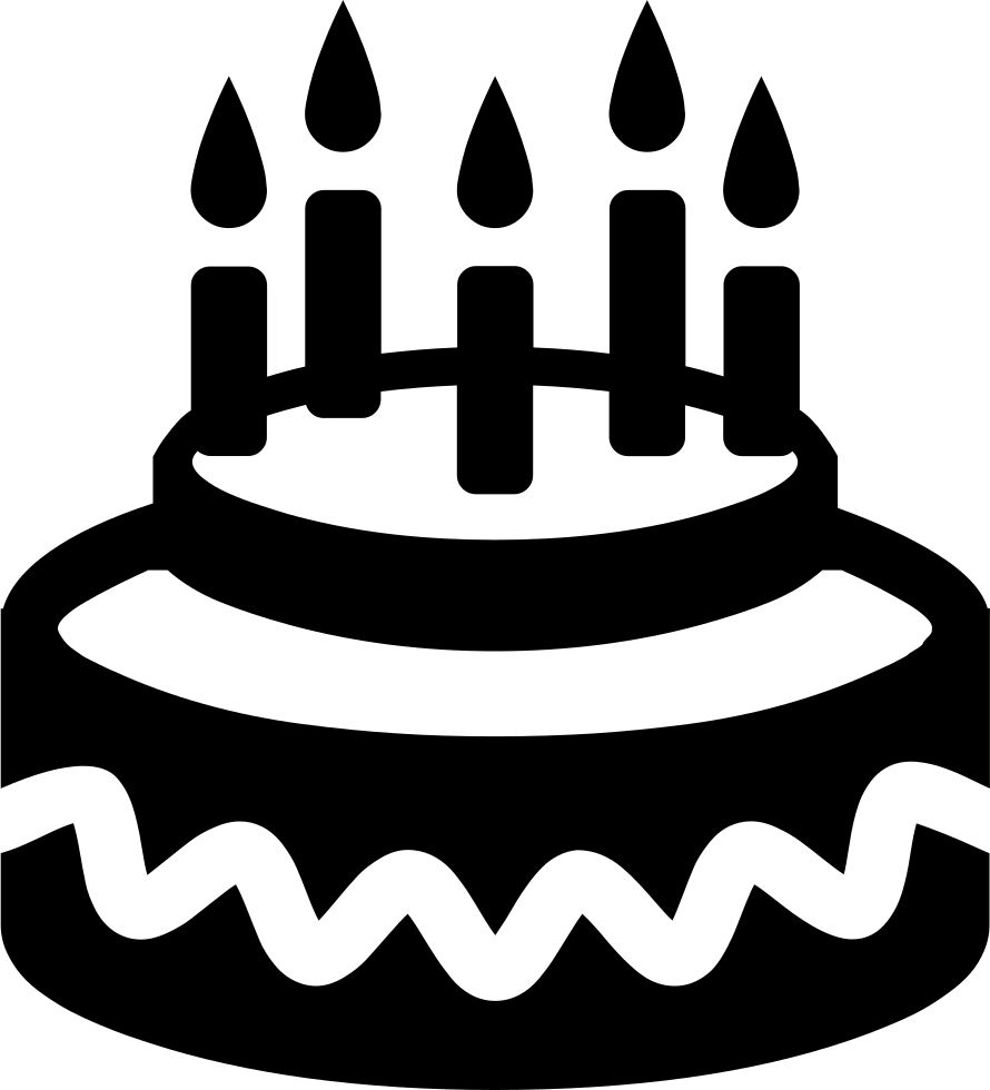 Birthday Cake Svg Png Icon Free Download (#425531
