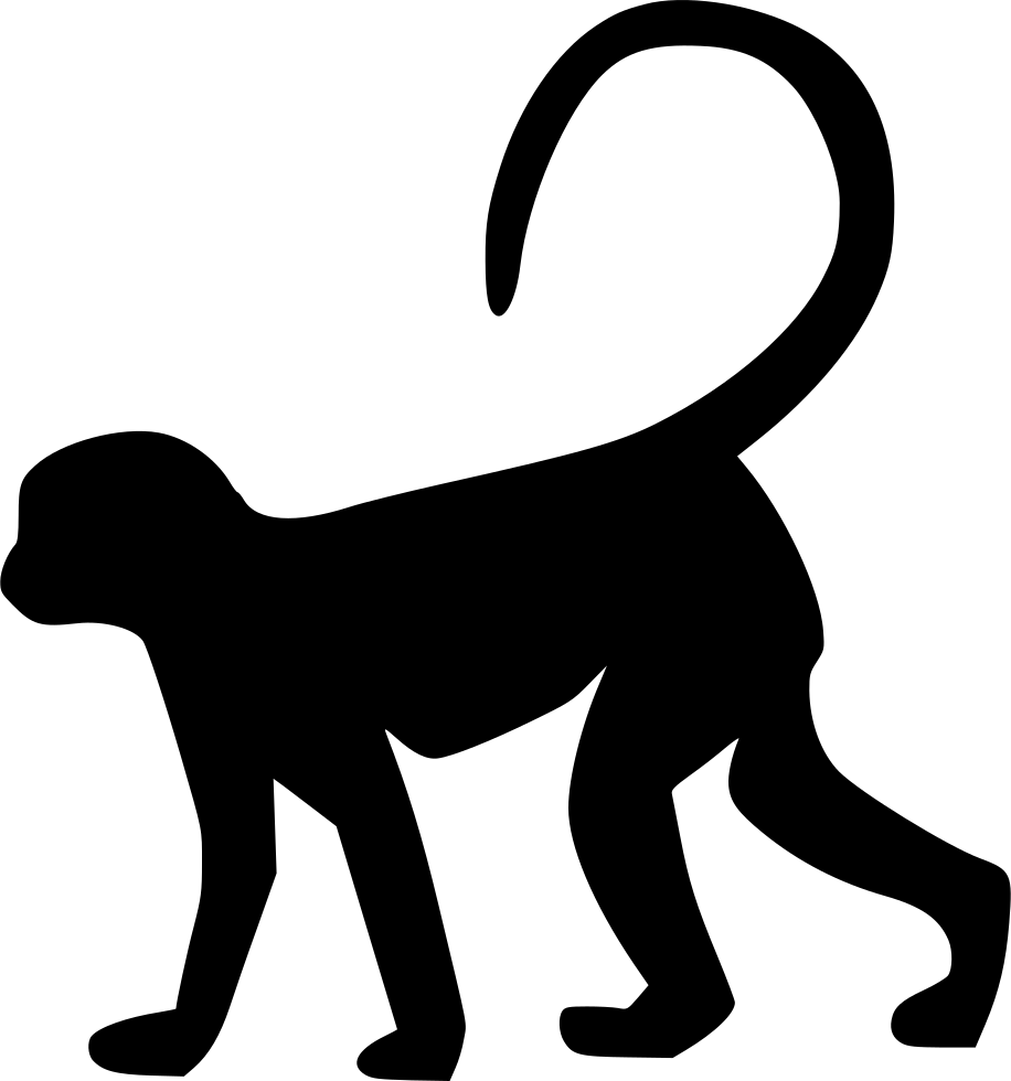 Monkey silhouette png - photo#31