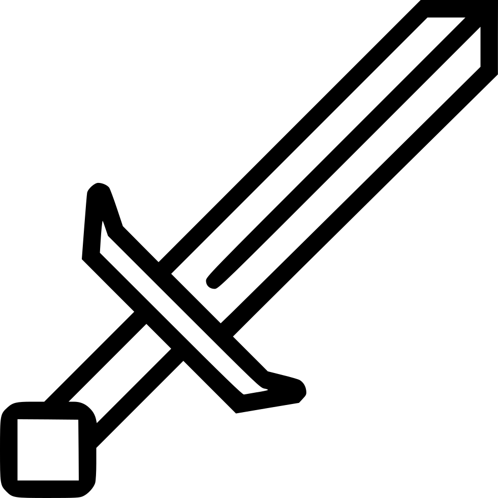 Minecraft Sword Svg Png Icon Free Download 442939