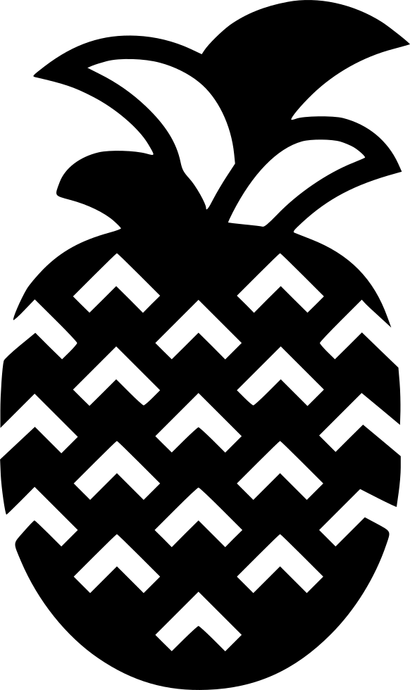 Black And White Pineapple Png