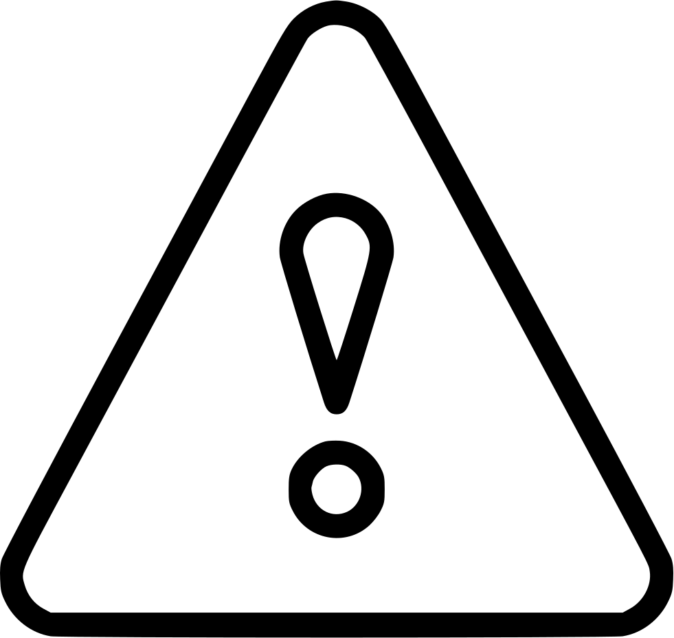 Exclamation Attention Warning Triangle Button Sign Svg Png