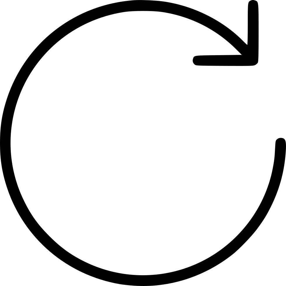 rotate clockwise arrow circle svg png icon free download 447882 onlinewebfonts com online web fonts
