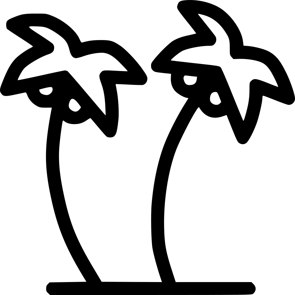 Coconut Trees Plantation Beach Svg Png Icon Free Download